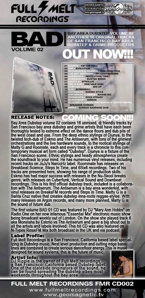 """V/A """"Dubstep Meditations"""" by DJ Ripple - (fmrcd003) Full Melt Records"""